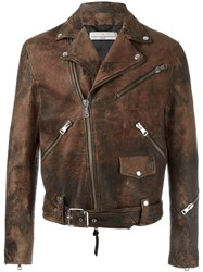 Golden Goose Deluxe Brand Biker Jacket Brown