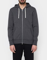 Reigning Champ Full Zip Hoodie Mid Weight Terry Charcoal