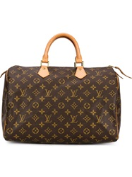 Louis Vuitton Vintage 'Speedy 35' Tote Brown