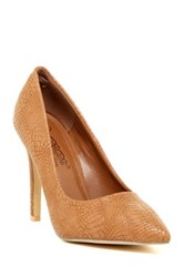 Elegant Footwear Chanel Snake Embossed Pump Brown