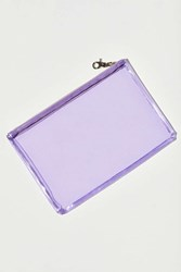 Urban Outfitters Clear Flat Zippered Pouch Purple