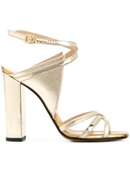 Marc Ellis Strappy Sandals Metallic