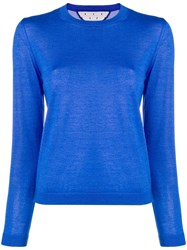 Red Valentino Crew Neck Jumper Blue