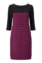 James Lakeland Laser Work Dress Purple