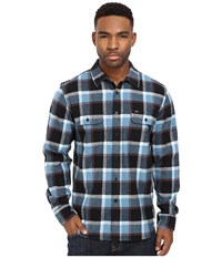 Obey Gower Woven Blue Multi Men's Clothing
