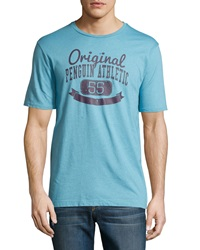 Penguin Graphic Cotton Blend Jersey Tee Delphinium Blue