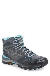 The North Face Women's 'Hedgehog Fastpack' Midi Gore Tex Waterproof Hiking Shoe Zinc Grey Fortuna Blue