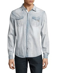 Buffalo David Bitton Denim Sportshirt Light Indigo