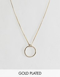 Pilgrim Gold Plated Circle Necklace