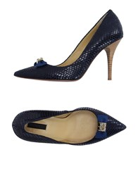 Pinko Black Footwear Courts Women Dark Blue
