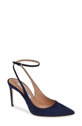 Brian Atwood Vicky Wraparound Pump Midnight Blue Suede
