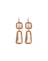 Nakamol Clear Crystal Dangle Earrings