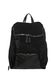 Giorgio Brato Shearling And Nappa Leather Backpack