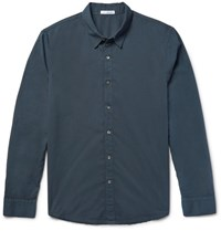 James Perse Cotton Poplin Shirt Petrol