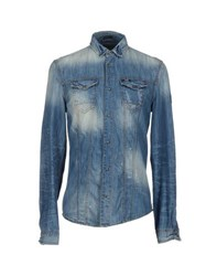 Guess Denim Denim Shirts Men