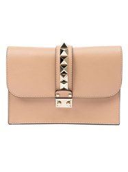 Valentino Garavani 'Glam Lock' Clutch Nude And Neutrals