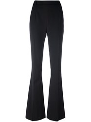 Balmain Pierre Zip Back Flared Trousers Black