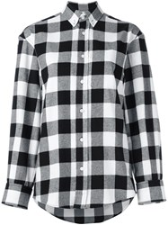 Golden Goose Deluxe Brand Checked Flannel Shirt Black