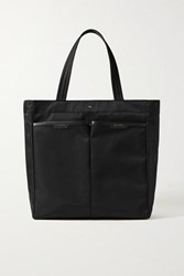 Anya Hindmarch Nevis Leather Trimmed Shell Tote Black