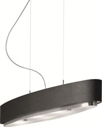 Estiluz Miris Oval Pendant Light T 2716 35.5 In L Incandescent 37 Brushed Nickel 26 Black Silver