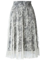 Philosophy Di Lorenzo Serafini Lace Overlay Skirt Nude And Neutrals