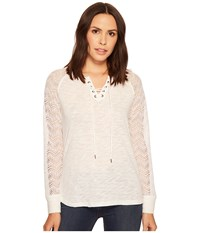 Ariat Lulu Lace Top Snow White Women's Long Sleeve Pullover