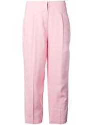 Michael Michael Kors Cropped Tailored Trousers Pink