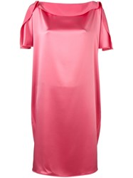 Gianluca Capannolo Cocktail Shift Dress Pink