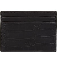 Mulberry Croc Embossed Card Holder Black