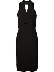 Jason Wu Open Back Halter Dress Black