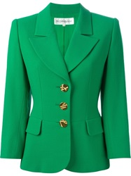 Yves Saint Laurent Vintage Fitted Blazer Green