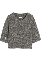 Day Birger Et Mikkelsen Embellished Wool Blend Sweater Anthracite
