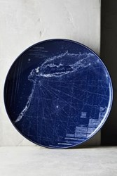 Anthropologie Caskata Blue Chart Platter