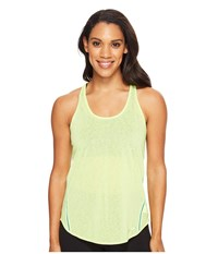 Brooks Ghost Racerback Aloe Tile Women's Sleeveless Yellow
