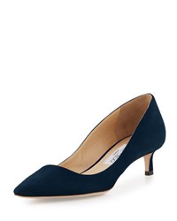 Jimmy Choo Romy Suede Low Heel Pump Navy