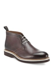 Saks Fifth Avenue Leather Chukka Boots Brown
