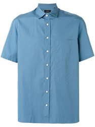 Joseph 'Deal Poplin' Shirt Blue