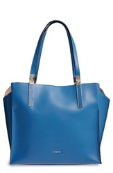 Lodis 'Blair Collection Anita' Leather Tote Blue Denim Taupe