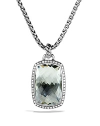 David Yurman Albion Pendant With Prasiolite And Diamonds Silver Green Grey