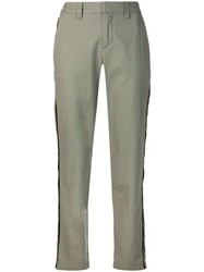 Zadig And Voltaire Pomello Side Stripe Trousers Green
