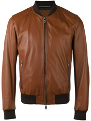 Dolce And Gabbana Bomber Jacket Brown