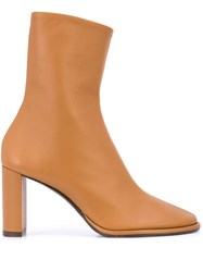 The Row Block Heel Ankle Boots Brown