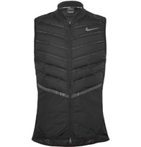 Nike Running Aeroloft Perforated Quilted Hell Down Gilet Black