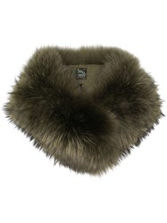 Mr And Mrs Italy Racoon Fur Collar Green
