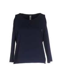 Met Topwear Sweatshirts Women Dark Blue
