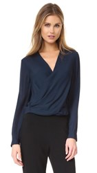 L'agence Gia Snap Back Blouse Midnight