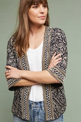 Anthropologie Sarasota Beaded Kimono Jacket Black