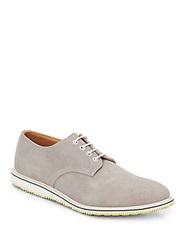 Walk Over Suede Lace Up Oxfords Grey