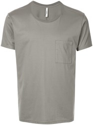 Attachment Chest Pocket T Shirt Grey