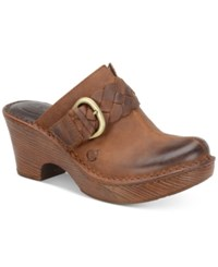 Born Mahal Braided Strap Mules Women's Shoes Rust